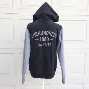 The Hundreds Black and Gray Hoodie Sweatshirts